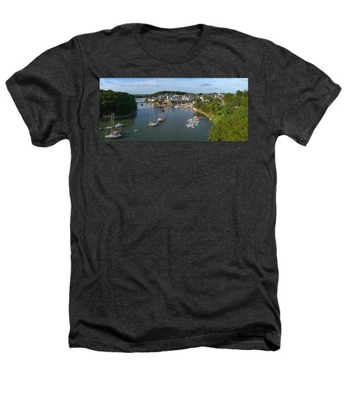 Boats In The Sea, Le Bono, Gulf Of Heathers T-Shirt by Panoramic Images