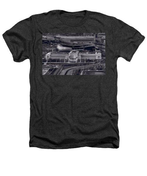 Chicago Icons Bw Heathers T-Shirt by Steve Gadomski
