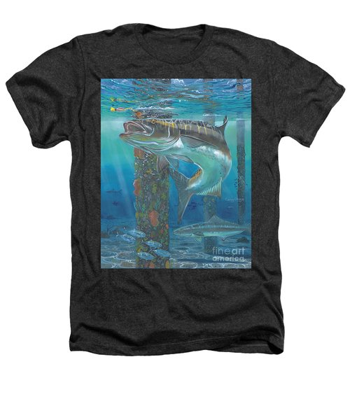 Cobia Strike In0024 Heathers T-Shirt by Carey Chen