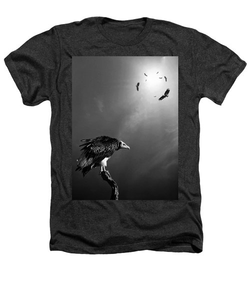 Conceptual - Vultures Awaiting Heathers T-Shirt by Johan Swanepoel