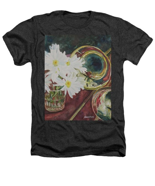 Daisies Bold As Brass Heathers T-Shirt by Jenny Armitage