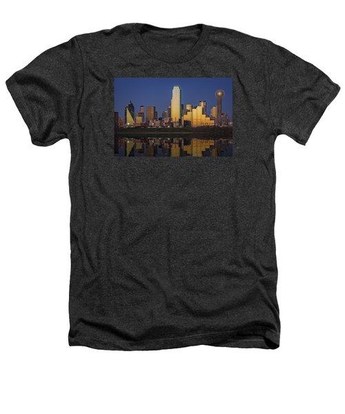 Dallas At Dusk Heathers T-Shirt by Rick Berk