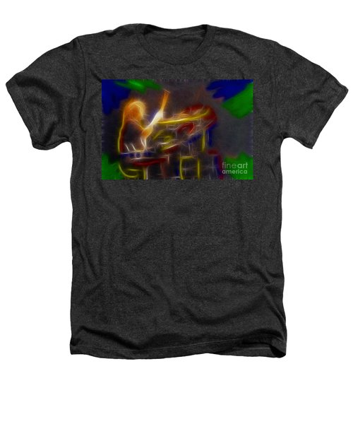 Def Leppard-adrenalize-gf24-ricka-fractal Heathers T-Shirt by Gary Gingrich Galleries