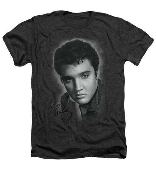 Elvis - Grey Portrait Heathers T-Shirt by Brand A