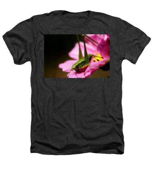 Flower Hopper Heathers T-Shirt by Michael Eingle