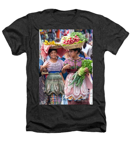 Fruit Sellers In Antigua Guatemala Heathers T-Shirt by David Smith