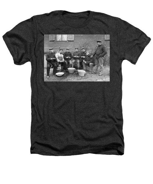 Germans Peeling Potatoes Heathers T-Shirt by Underwood Archives