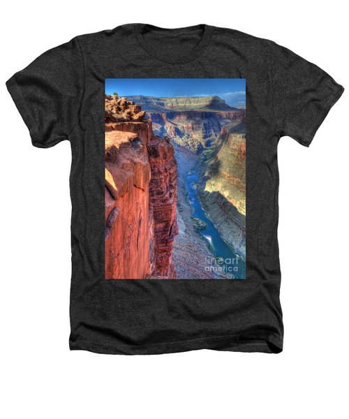 Grand Canyon Awe Inspiring Heathers T-Shirt by Bob Christopher