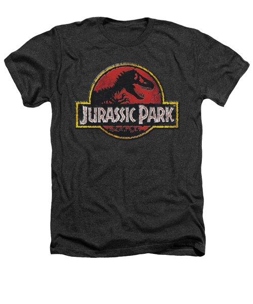 Jurassic Park - Stone Logo Heathers T-Shirt by Brand A