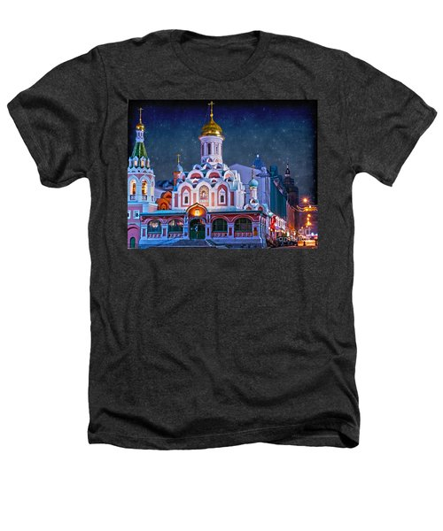 Kazan Cathedral. Red Square. Moscow Russia Heathers T-Shirt by Juli Scalzi