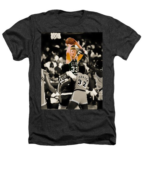 Larry Bird Heathers T-Shirt by Brian Reaves