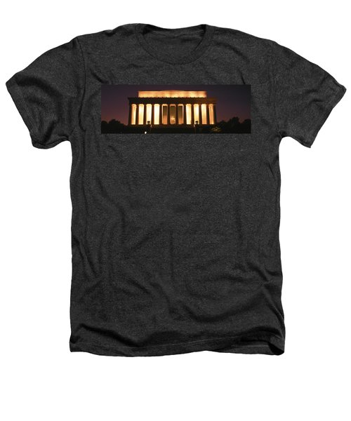 Lincoln Memorial Washington Dc Usa Heathers T-Shirt by Panoramic Images
