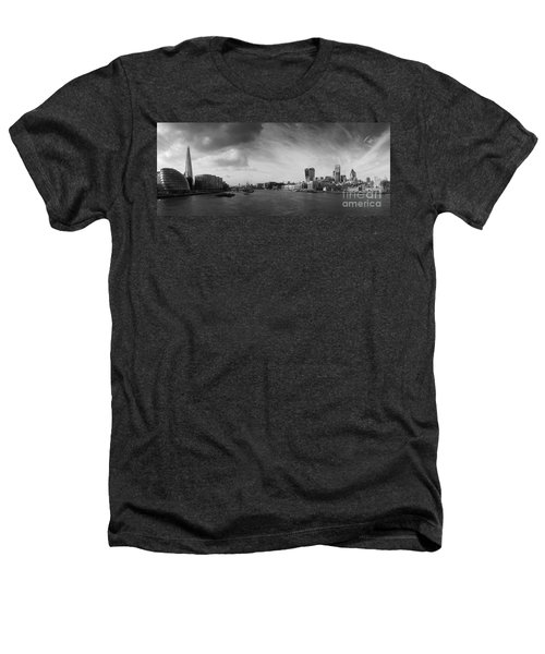 London City Panorama Heathers T-Shirt by Pixel Chimp