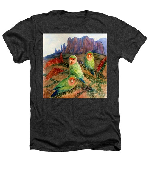 Lovebirds Heathers T-Shirt by Marilyn Smith