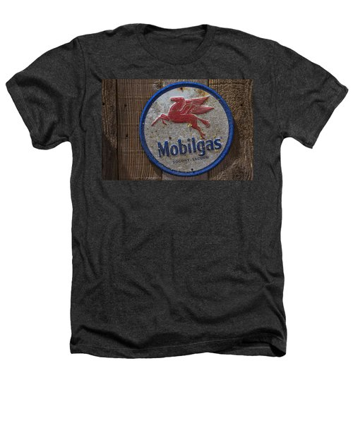 Mobil Gas Sign Heathers T-Shirt by Garry Gay