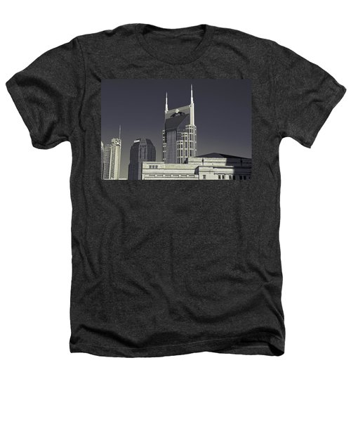 Nashville Tennessee Batman Building Heathers T-Shirt by Dan Sproul