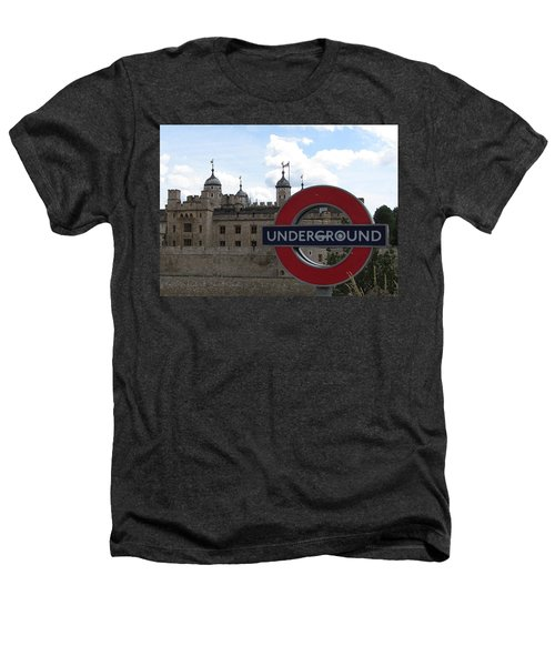 Next Stop Tower Of London Heathers T-Shirt by Jenny Armitage
