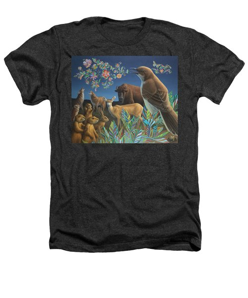 Nocturnal Cantata Heathers T-Shirt by James W Johnson