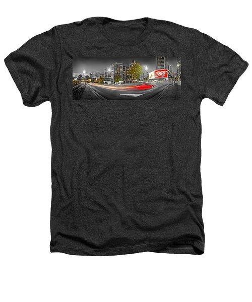 Red Lights Sydney Nights Heathers T-Shirt by Az Jackson