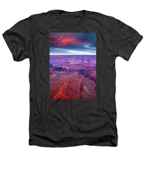 Red Rock Dusk Heathers T-Shirt by Mike  Dawson