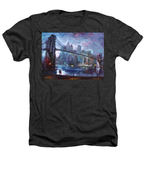 Romance By East River II Heathers T-Shirt by Ylli Haruni