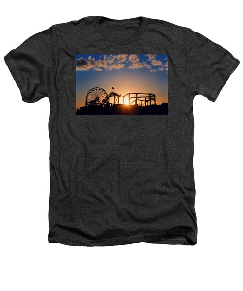 Santa Monica Pier Heathers T-Shirt by Art Block Collections