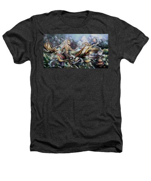 Something Fowl Afloat Redux Heathers T-Shirt by Patrick Anthony Pierson