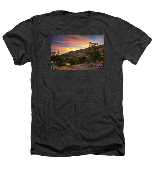 Sunrise At Woodhead Park Heathers T-Shirt by Robert Bales