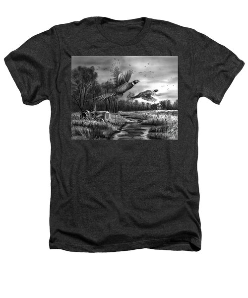 Taking Flight  Heathers T-Shirt by Peter Piatt