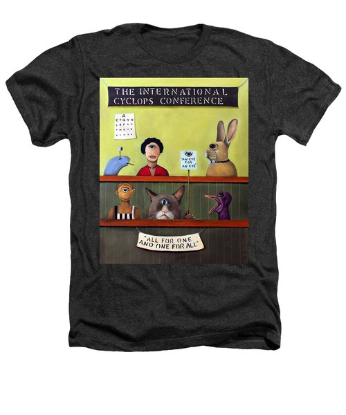 The International Cyclops Conference Heathers T-Shirt by Leah Saulnier The Painting Maniac