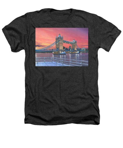 Tower Bridge After The Snow Heathers T-Shirt by Richard Harpum