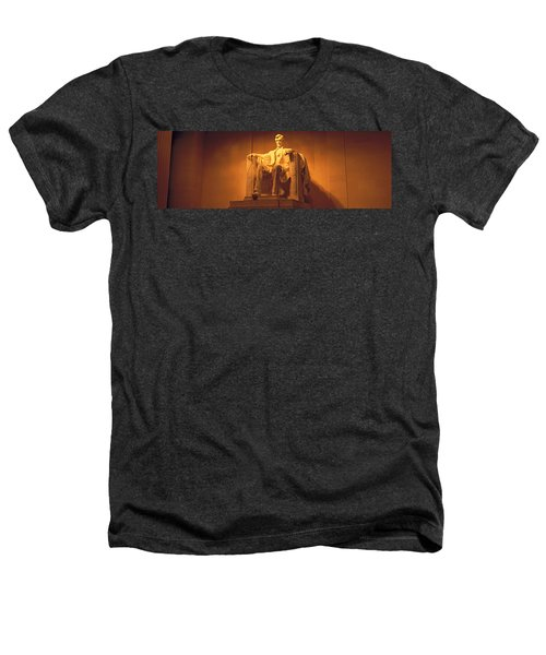 Usa, Washington Dc, Lincoln Memorial Heathers T-Shirt by Panoramic Images