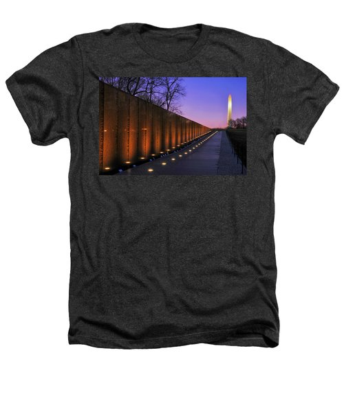 Vietnam Veterans Memorial At Sunset Heathers T-Shirt by Pixabay