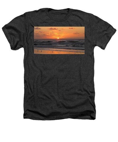 Wildwood Beach Here Comes The Sun Heathers T-Shirt by David Dehner