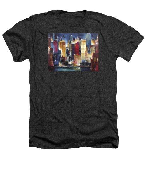 Windy City Nights Heathers T-Shirt by Kathleen Patrick
