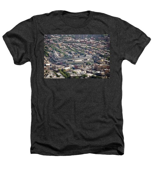 Wrigley Field - Home Of The Chicago Cubs Heathers T-Shirt by Adam Romanowicz