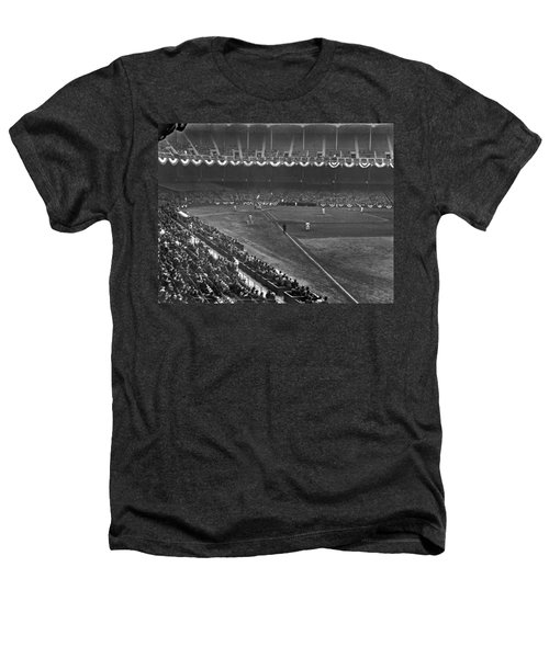 Yankee Stadium Game Heathers T-Shirt by Underwood Archives