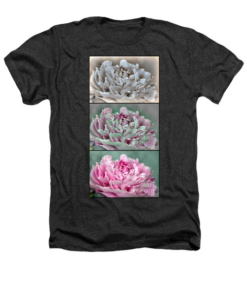 Peony Named Shirley Temple Heathers T-Shirt by J McCombie