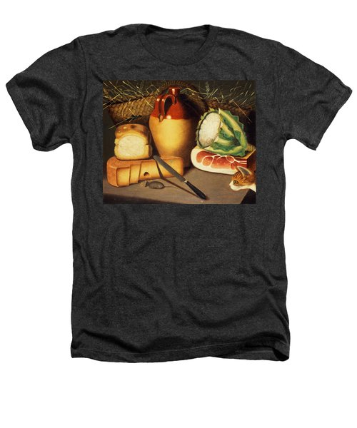 Cat Mouse Bacon And Cheese Heathers T-Shirt by Anonymous