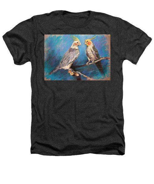 Coctaiel Parrots Heathers T-Shirt by Ylli Haruni