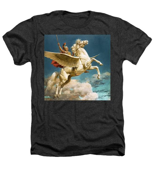 Pegasus The Winged Horse Heathers T-Shirt by Fortunino Matania