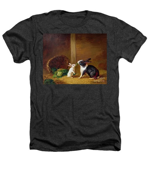 Two Rabbits Heathers T-Shirt by H Baert