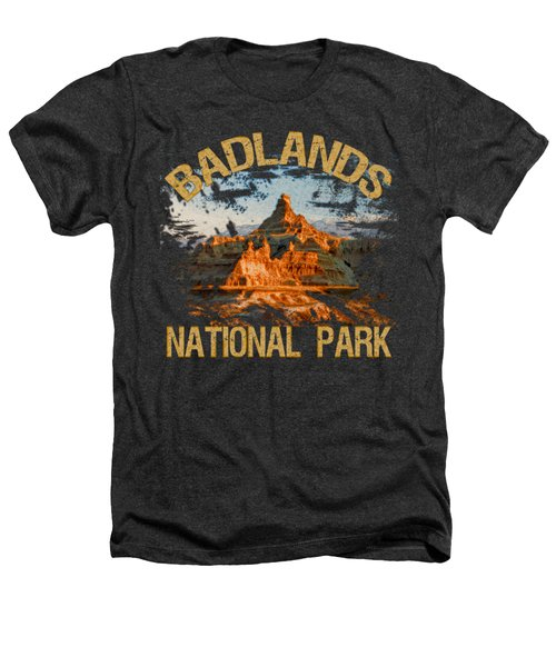 Badlands National Park Heathers T-Shirt by David G Paul