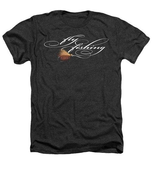 Fly Fishing Elk Hair Caddis Heathers T-Shirt by Rob Corsetti