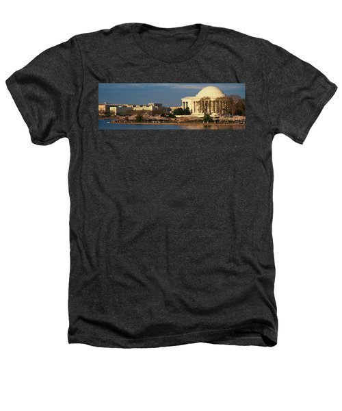 Panoramic View Of Jefferson Memorial Heathers T-Shirt by Panoramic Images