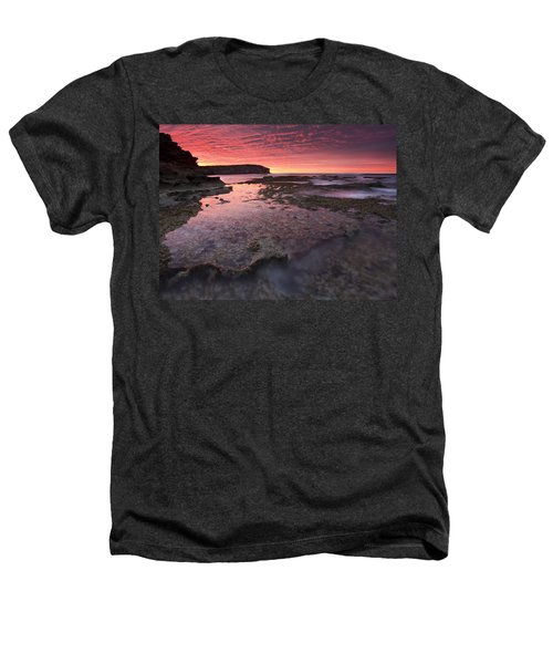 Red Sky At Morning Heathers T-Shirt by Mike  Dawson
