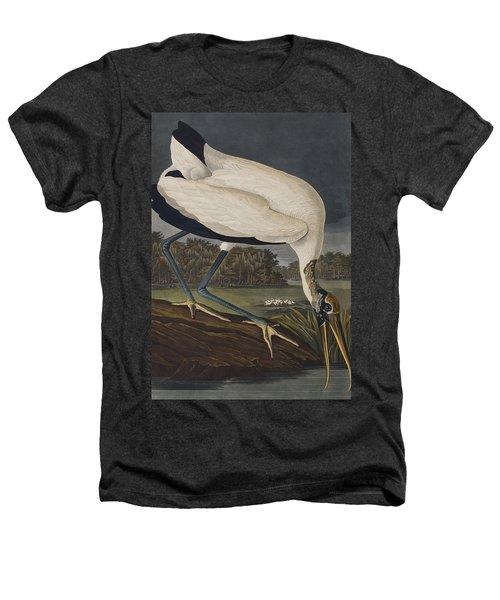 Wood Ibis Heathers T-Shirt by John James Audubon