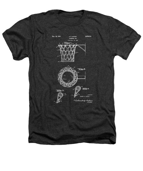 1951 Basketball Net Patent Artwork - Gray Heathers T-Shirt by Nikki Marie Smith