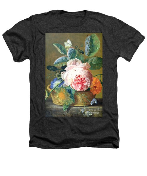 A Basket With Flowers Heathers T-Shirt by Jan van Huysum