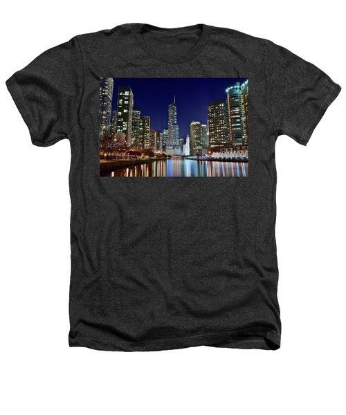 A View Down The Chicago River Heathers T-Shirt by Frozen in Time Fine Art Photography